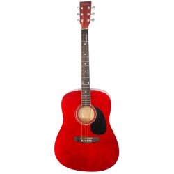 Daytona A 411 Guitarra Acustica Rojo Brillo