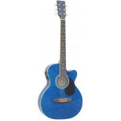 Guitarra Acústica Azul Brillo Daytona A-401CE