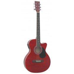 Daytona A 401CE Guitarra Acustica Rojo Brillo
