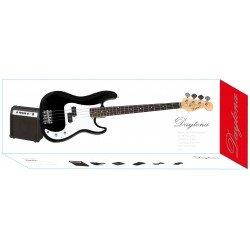 Pack Guitarra Bajo DAYTONA tipo Precission Negro