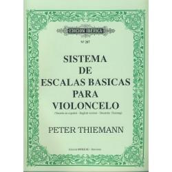 THIEMANN P. - Sistema de Escalas Basicas para Violoncello