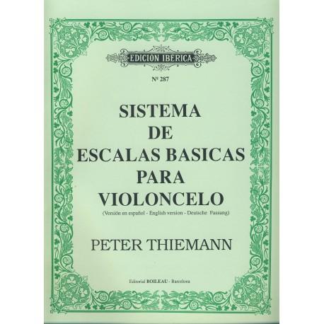 Thiemann, Peter. Sistema de Escalas Básicas para Violoncello