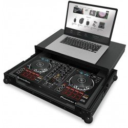 ultimate flight case multi format xl black plus laptop shelf