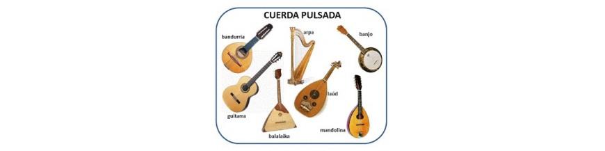 instrumentos de cuerda pulsada guitarras