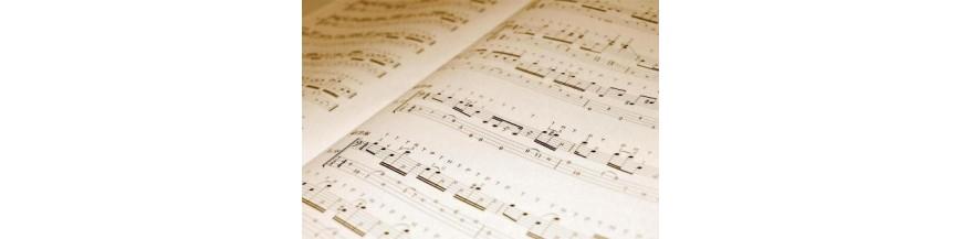 Libros y partituras de música para estudiantes de conservatorio o escuelas de música